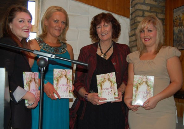 Olive and Eileen with members of the Book Republic team Claire and Karen